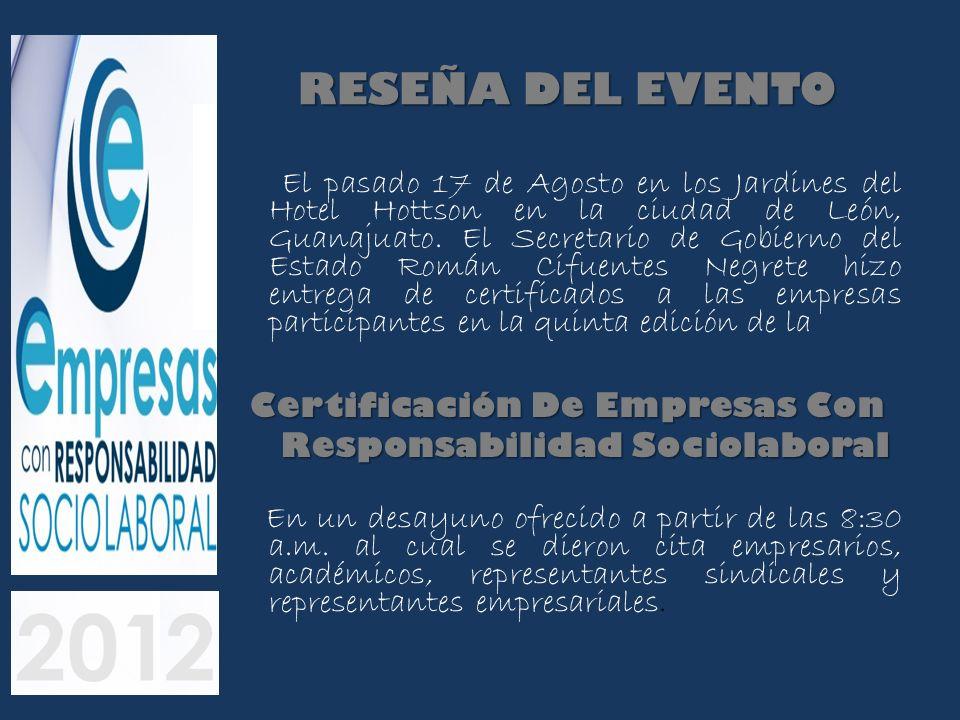 Certificación De Empresas Con Responsabilidad Sociolaboral
