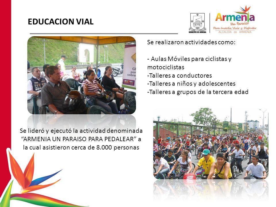 EDUCACION VIAL Se realizaron actividades como:
