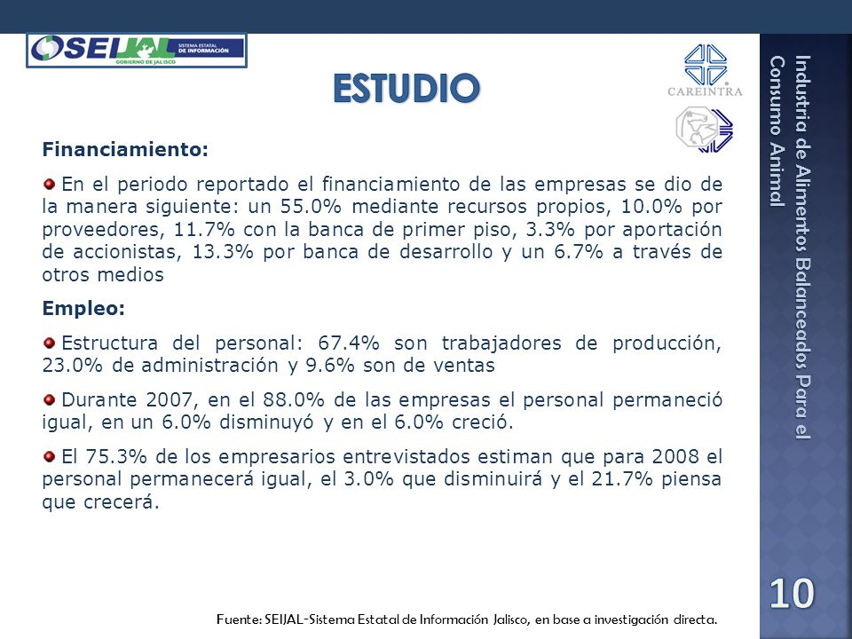 ESTUDIO Financiamiento: