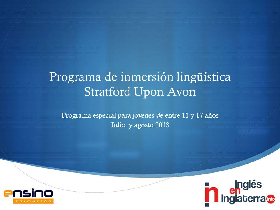 Programa de inmersión lingüística Stratford Upon Avon