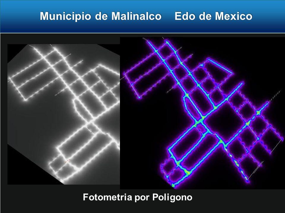 Municipio de Malinalco Edo de Mexico Fotometria por Poligono