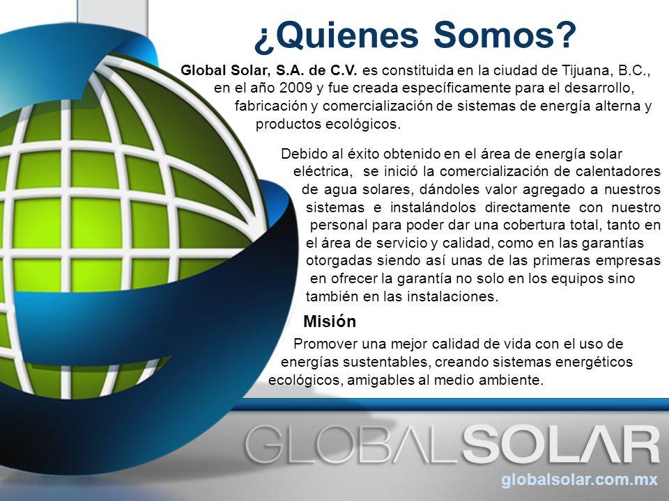 ¿Quienes Somos Misión globalsolar.com.mx
