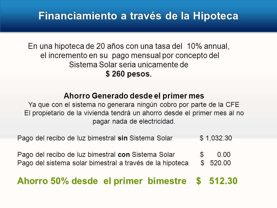 Financiamiento a través de la Hipoteca