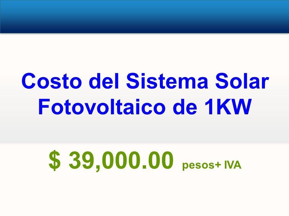 Costo del Sistema Solar Fotovoltaico de 1KW