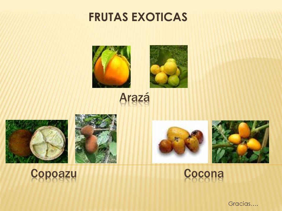 FRUTAS EXOTICAS Arazá Copoazu Cocona Gracias….