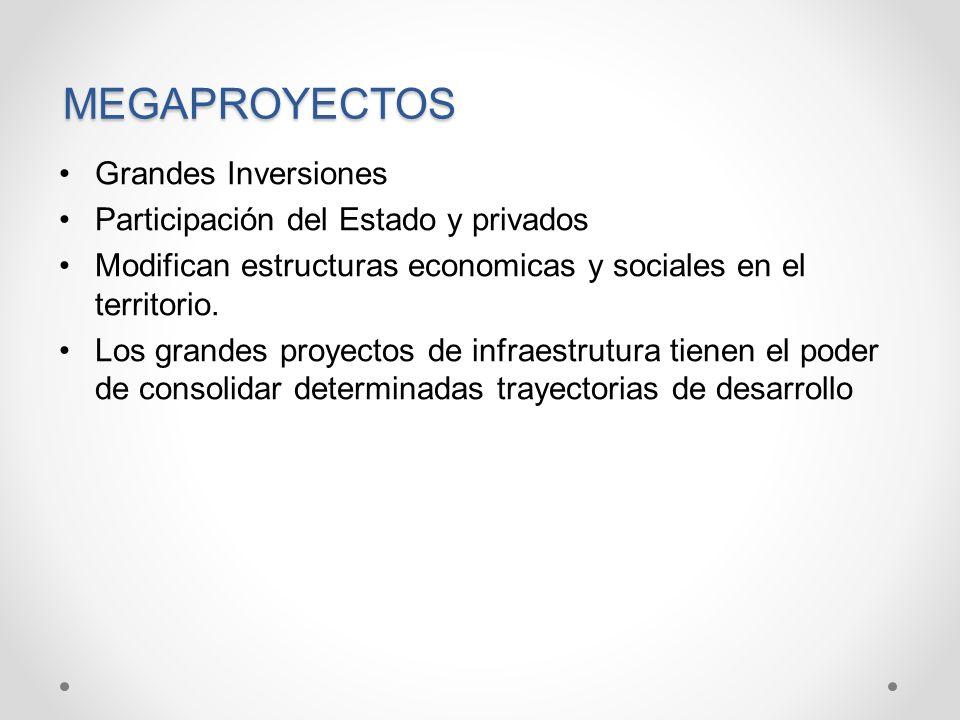 MEGAPROYECTOS Grandes Inversiones Participación del Estado y privados
