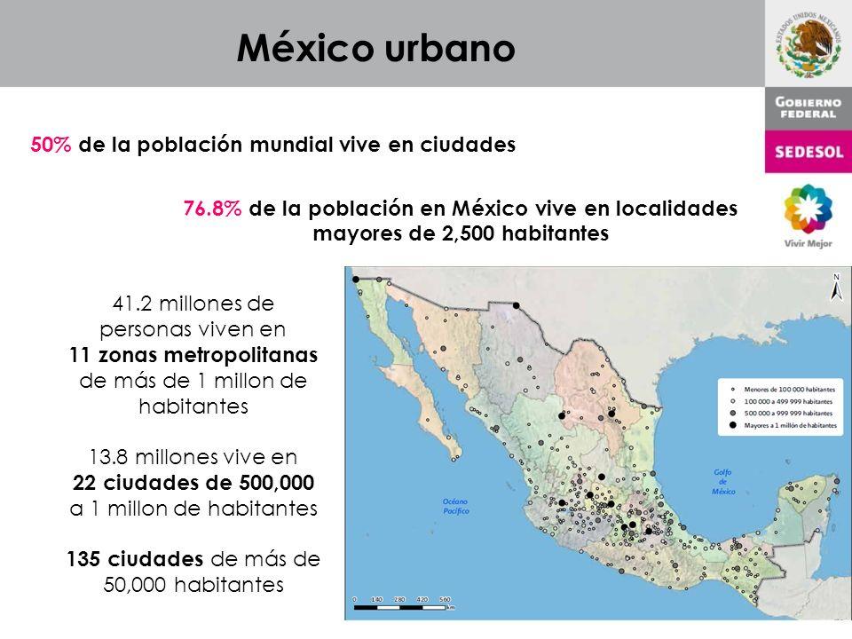 México urbano 50% de la población mundial vive en ciudades