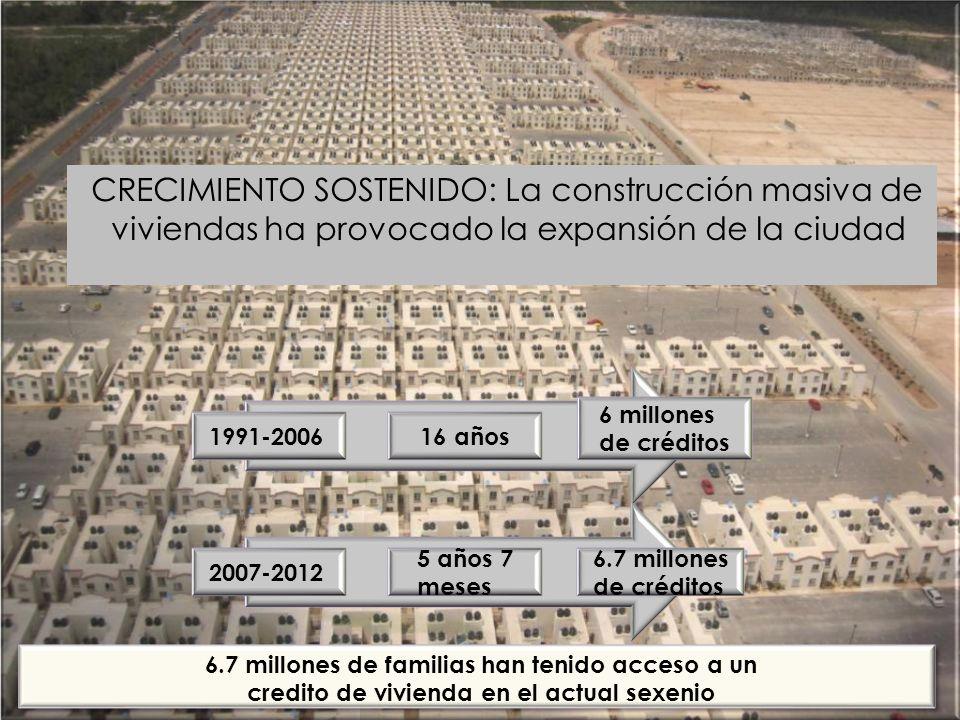 CRECIMIENTO SOSTENIDO: La construcción masiva de viviendas ha provocado la expansión de la ciudad