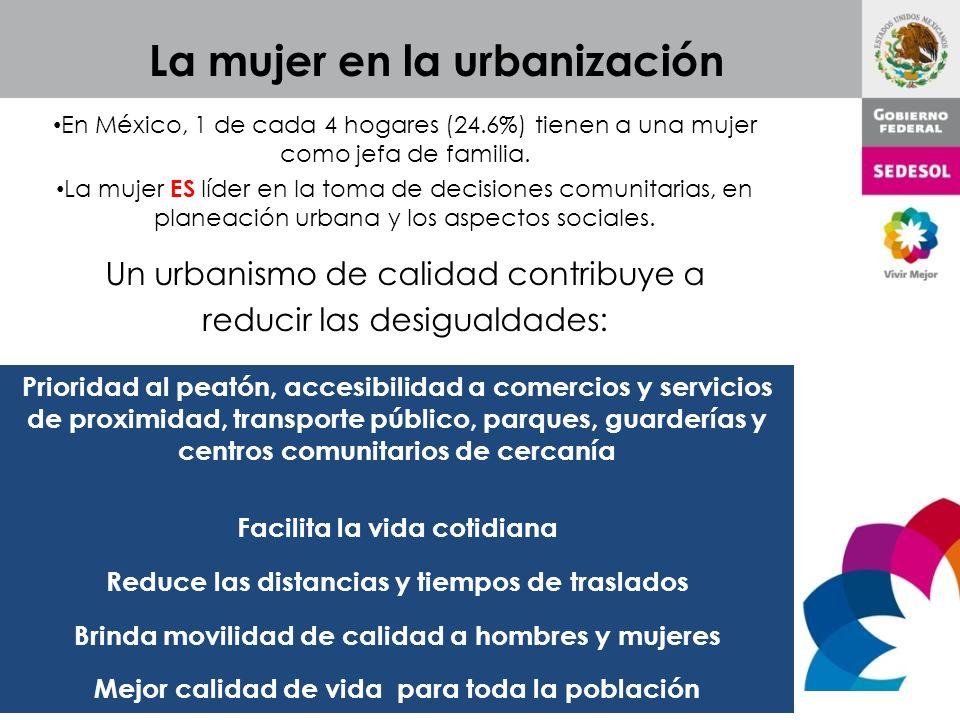 La mujer en la urbanización