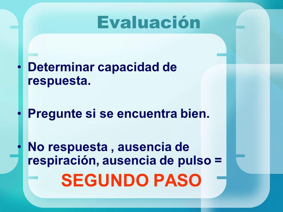 Evaluación SEGUNDO PASO Determinar capacidad de respuesta.