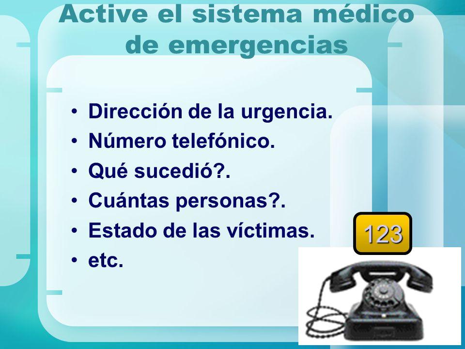 Active el sistema médico de emergencias