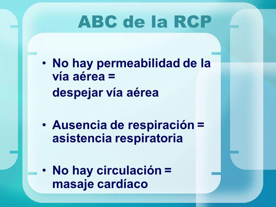 ABC de la RCP No hay permeabilidad de la vía aérea =