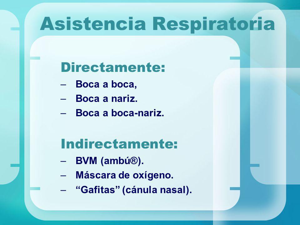 Asistencia Respiratoria