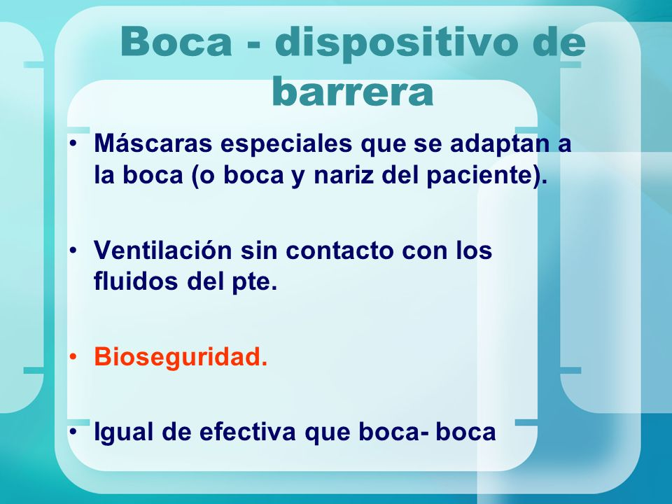 Boca - dispositivo de barrera