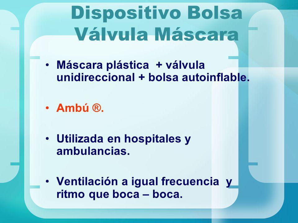 Dispositivo Bolsa Válvula Máscara
