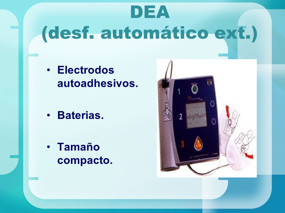 DEA (desf. automático ext.)
