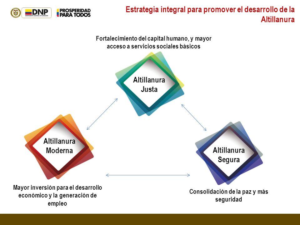 Estrategia integral para promover el desarrollo de la Altillanura