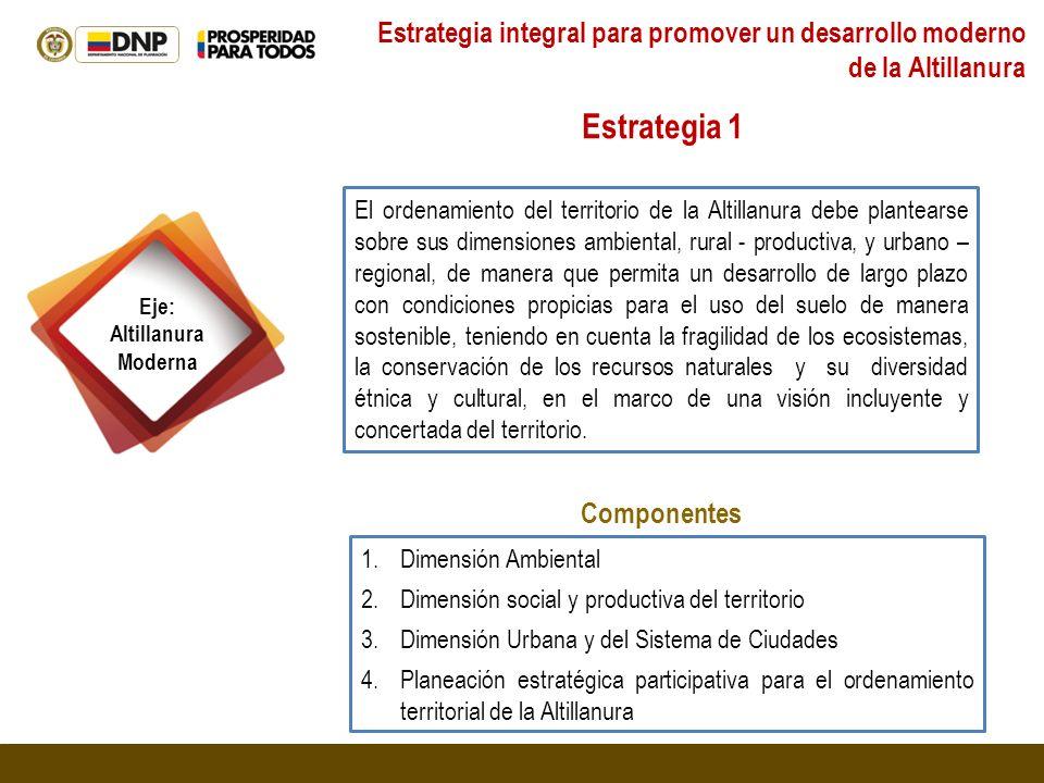 Estrategia integral para promover un desarrollo moderno de la Altillanura
