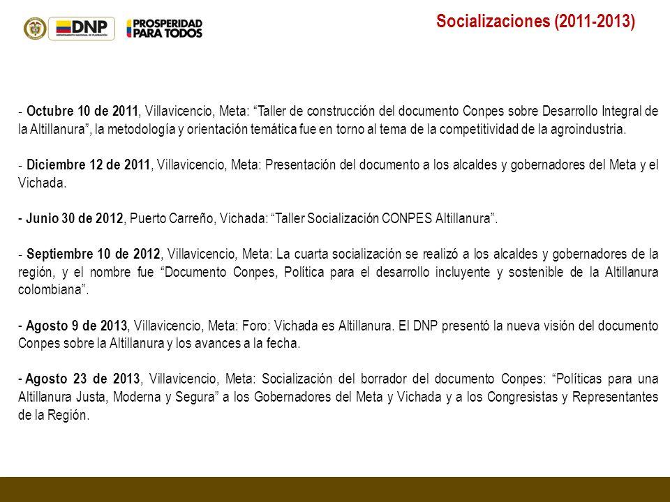 Socializaciones (2011-2013)