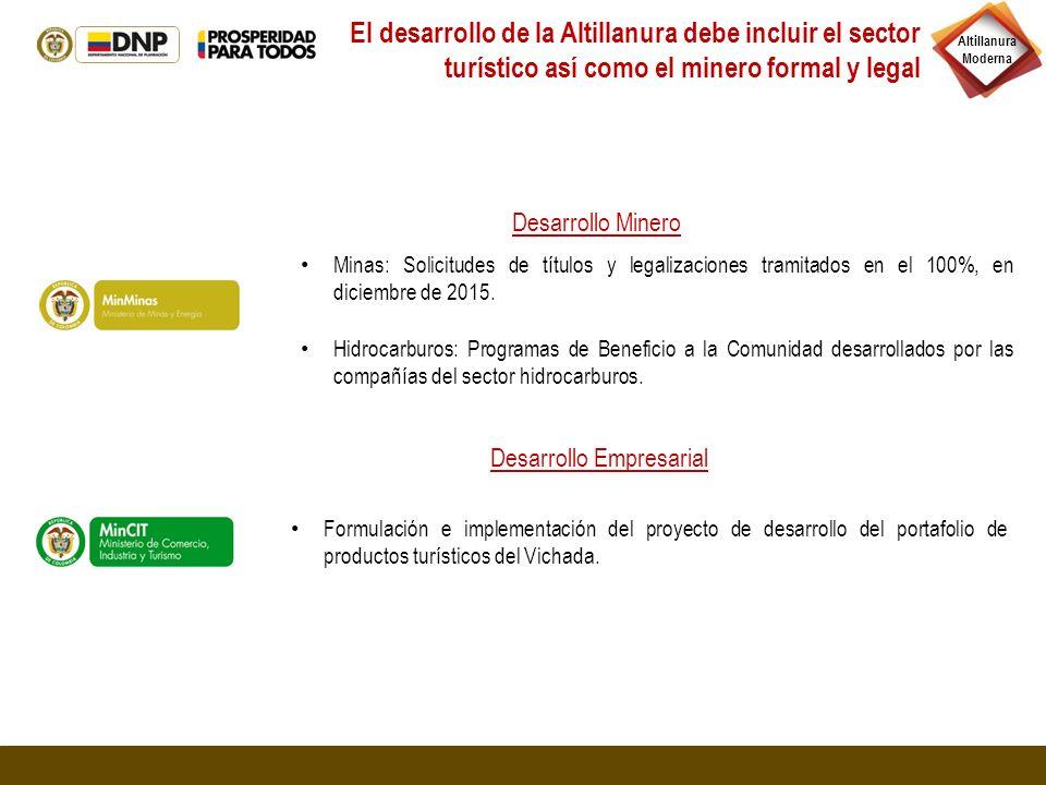 El desarrollo de la Altillanura debe incluir el sector turístico así como el minero formal y legal