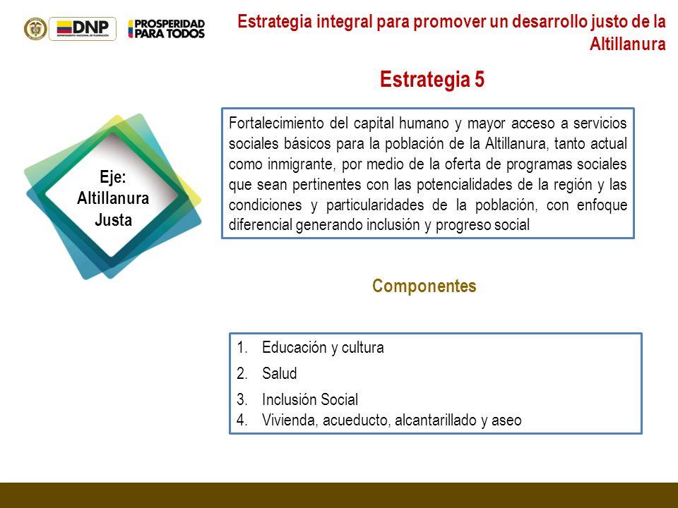 Estrategia integral para promover un desarrollo justo de la Altillanura