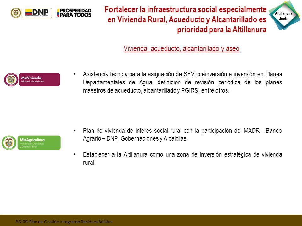 Fortalecer la infraestructura social especialmente en Vivienda Rural, Acueducto y Alcantarillado es prioridad para la Altillanura
