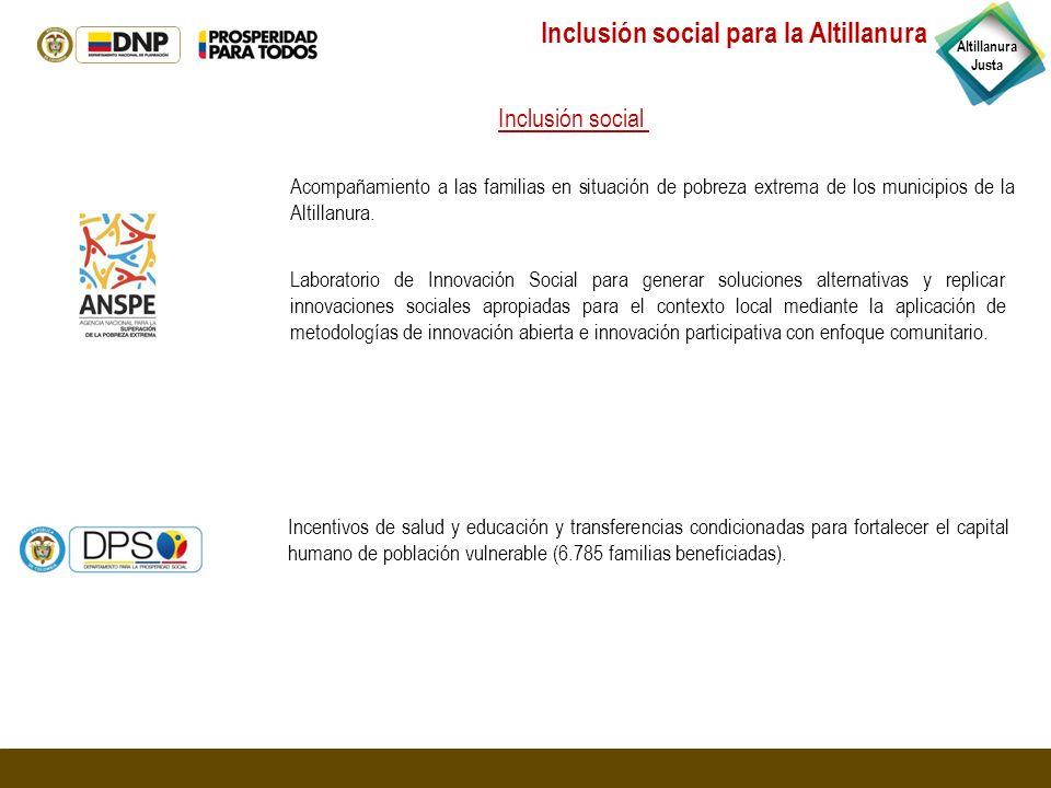 Inclusión social para la Altillanura