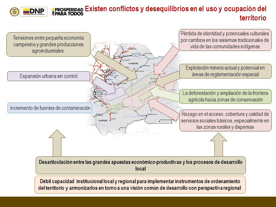 Existen conflictos y desequilibrios en el uso y ocupación del territorio