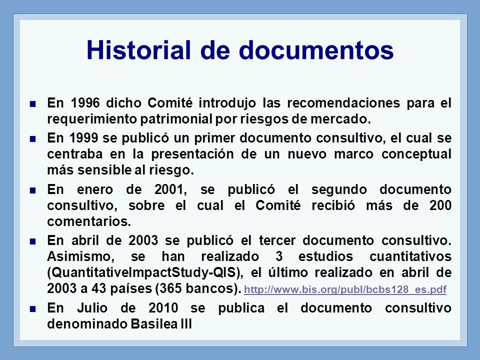 Historial de documentos