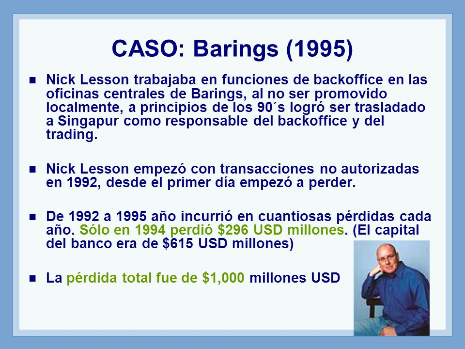 CASO: Barings (1995)