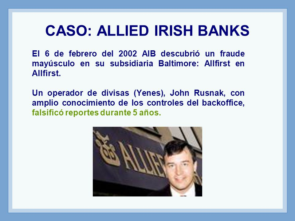 CASO: ALLIED IRISH BANKS