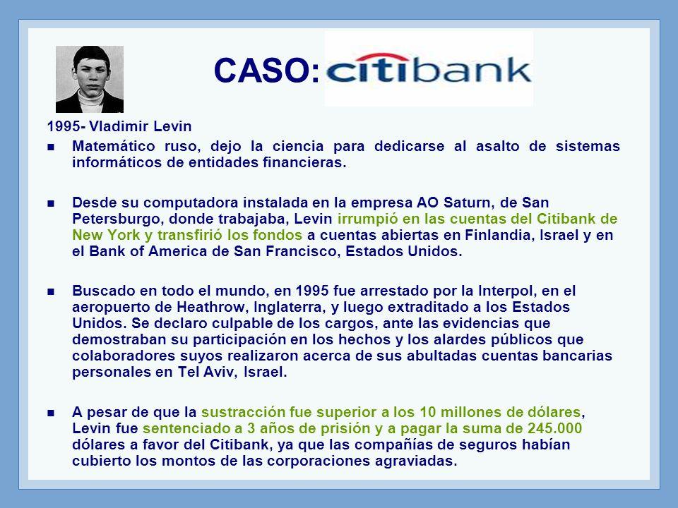 CASO: Citibank 1995- Vladimir Levin