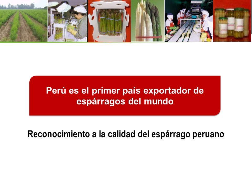 Reconocimiento a la calidad del espárrago peruano
