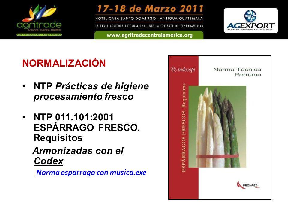 NORMALIZACIÓN NTP Prácticas de higiene procesamiento fresco