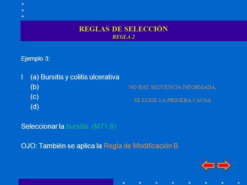 REGLAS DE SELECCIÓN REGLA 2