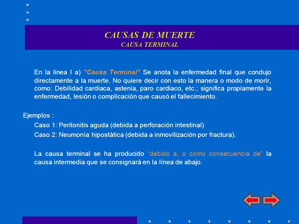 CAUSAS DE MUERTE CAUSA TERMINAL