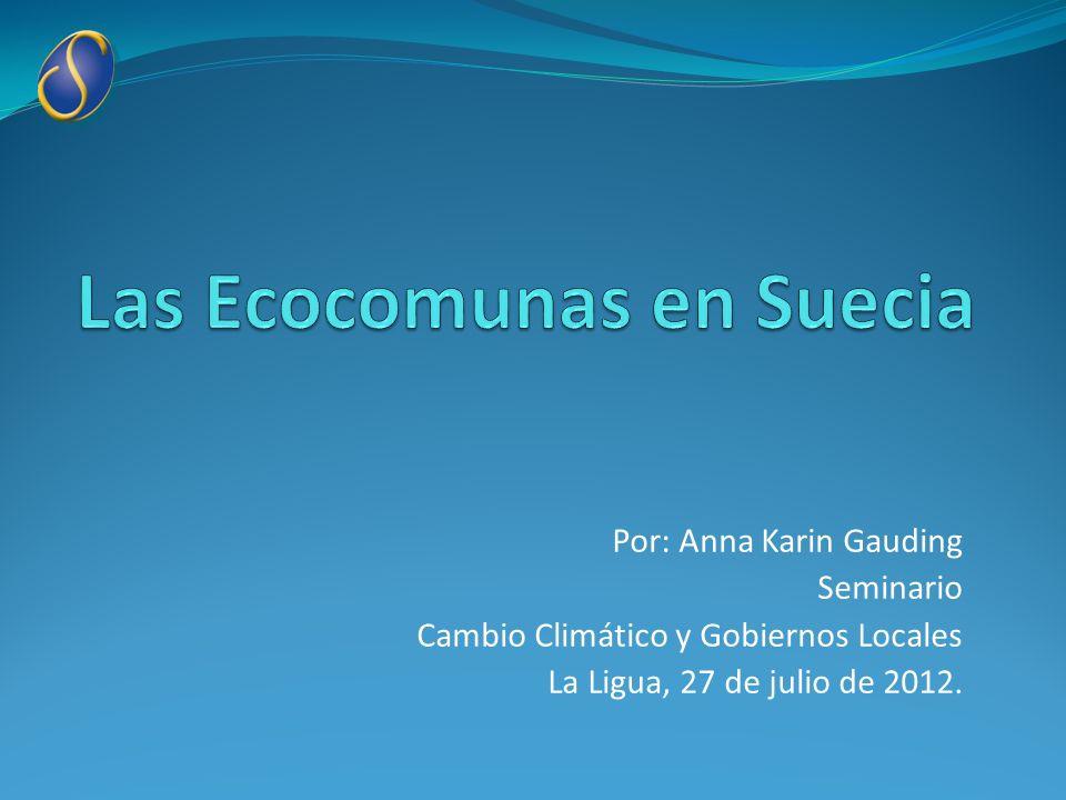 Las Ecocomunas en Suecia