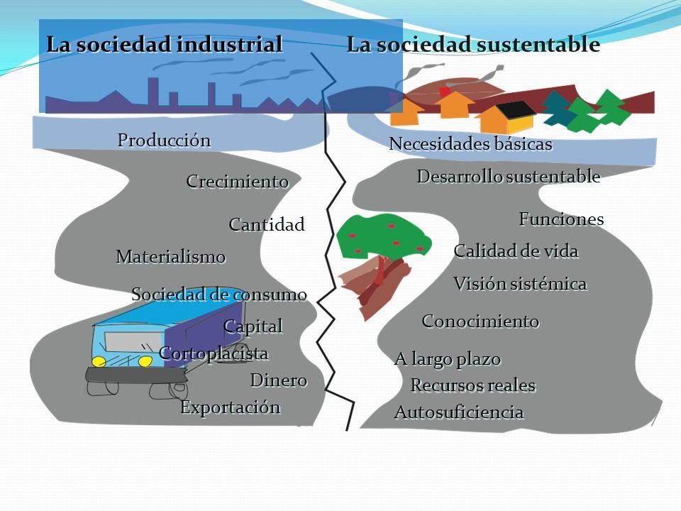 La sociedad industrial La sociedad sustentable