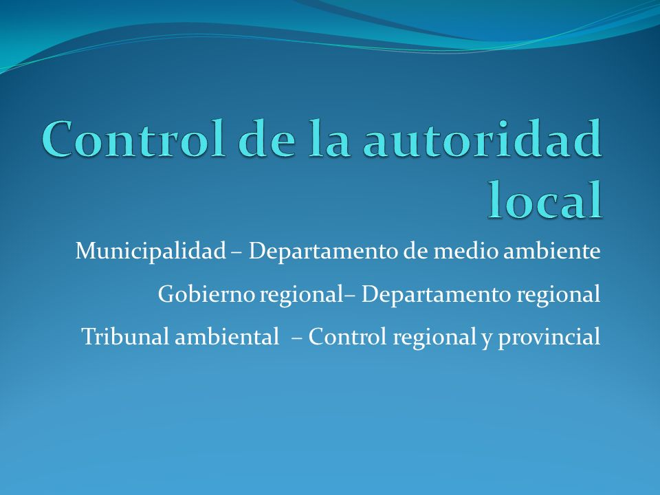 Control de la autoridad local