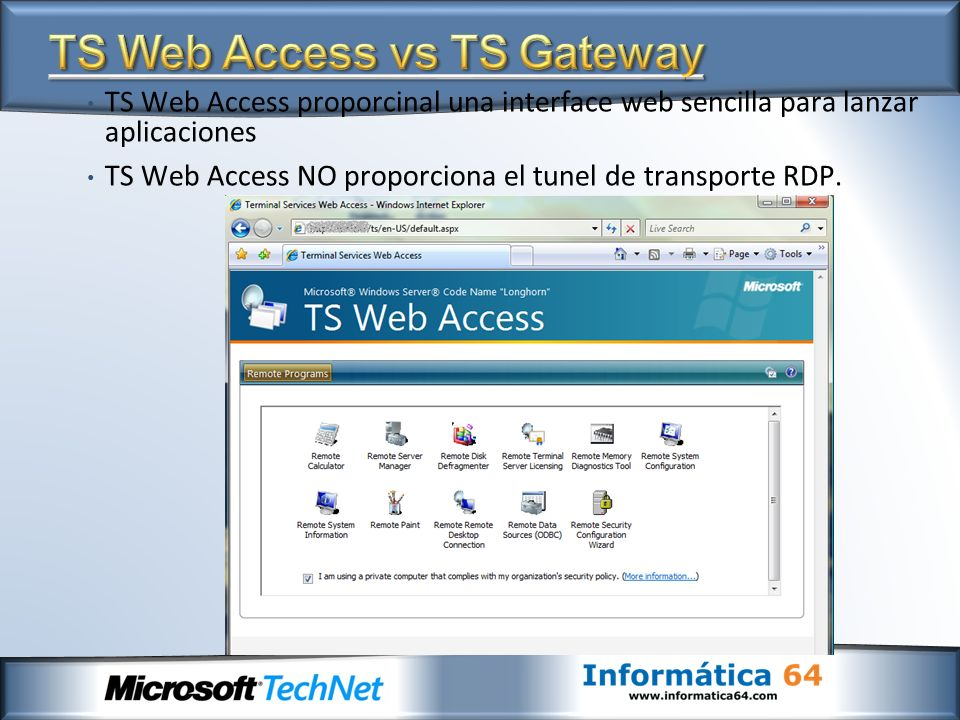 TS Web Access vs TS Gateway