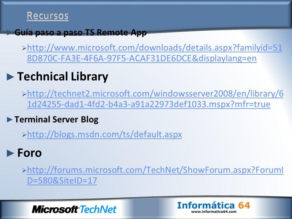 Technical Library Foro Recursos Guía paso a paso TS Remote App