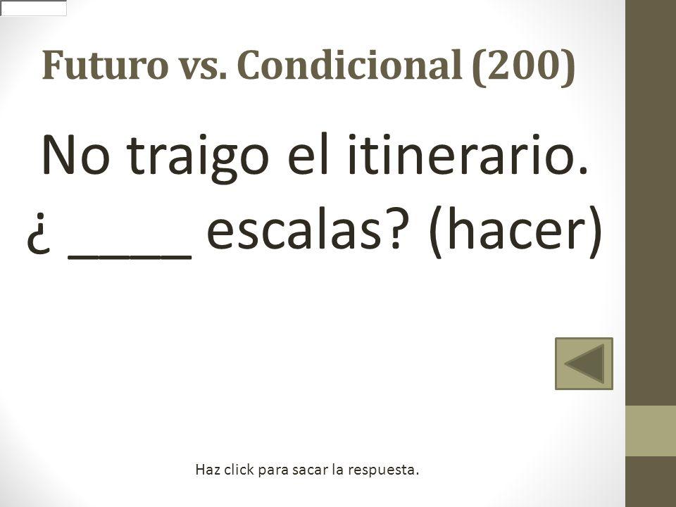 Futuro vs. Condicional (200)