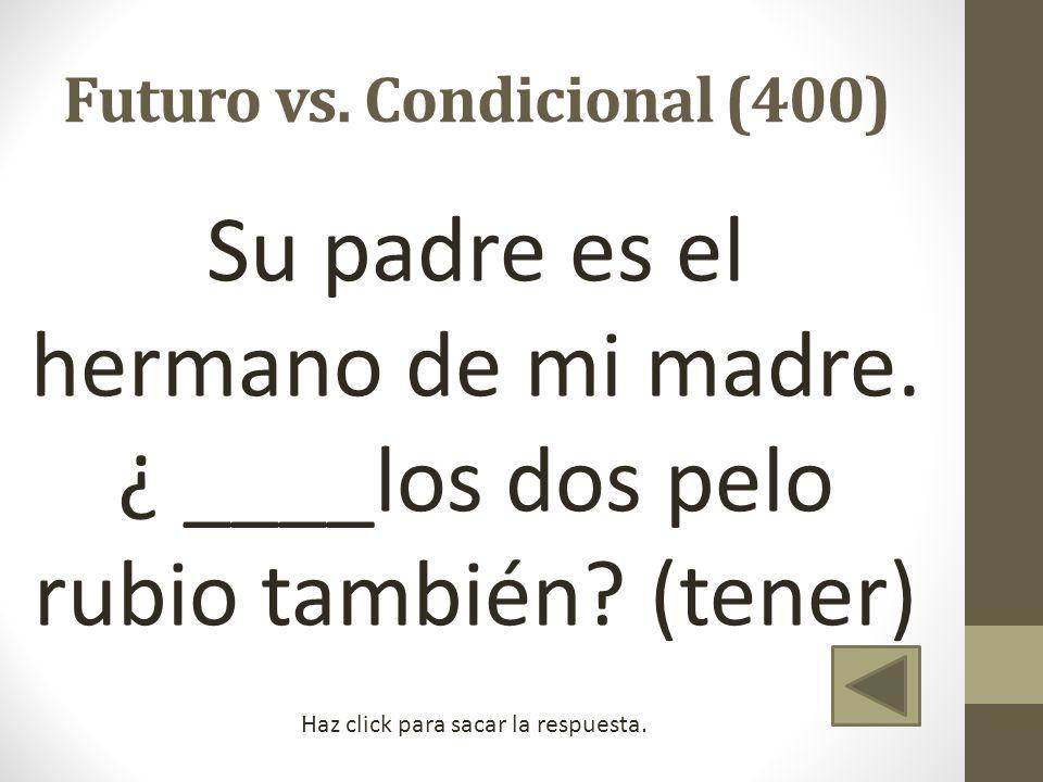 Futuro vs. Condicional (400)