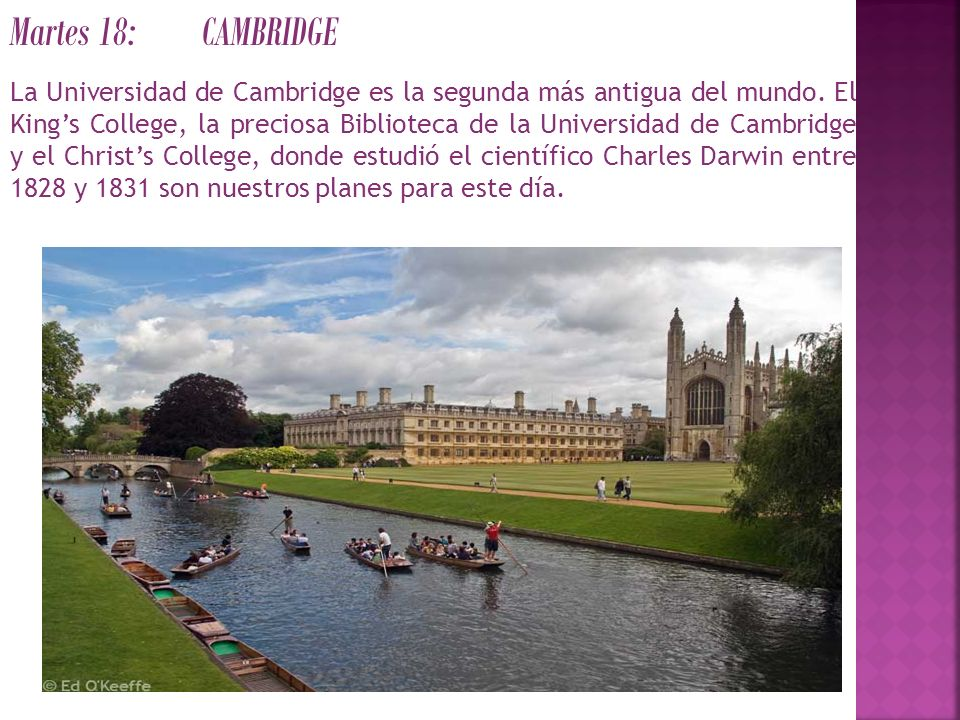 Martes 18: CAMBRIDGE