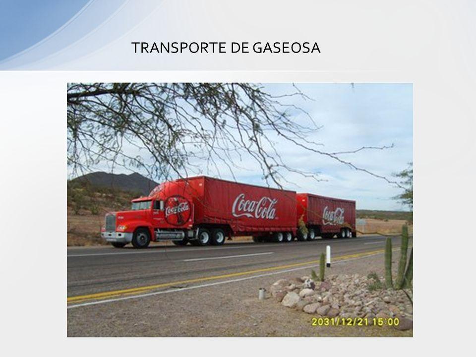 TRANSPORTE DE GASEOSA