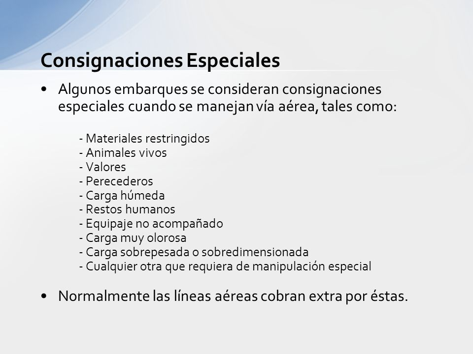 Consignaciones Especiales