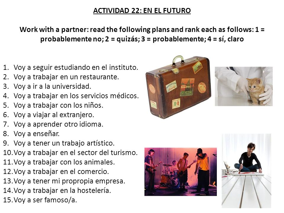 ACTIVIDAD 22: EN EL FUTURO
