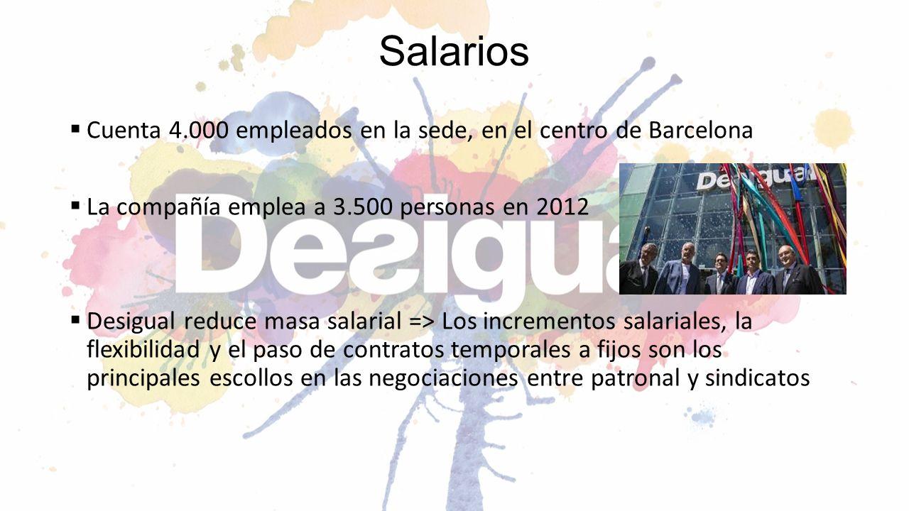 Salarios Cuenta 4.000 empleados en la sede, en el centro de Barcelona