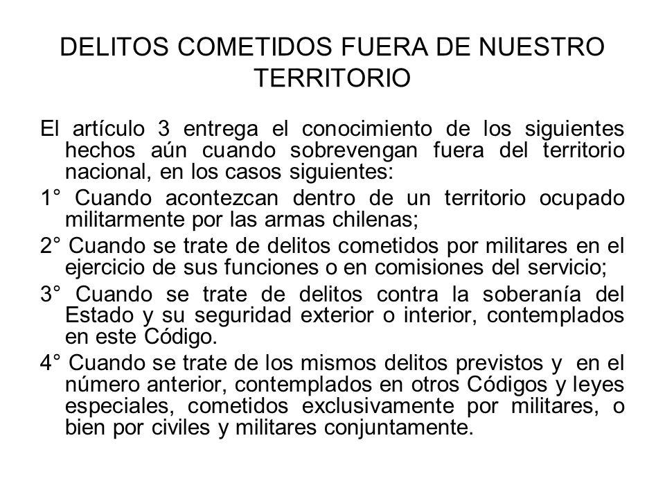 DELITOS COMETIDOS FUERA DE NUESTRO TERRITORIO