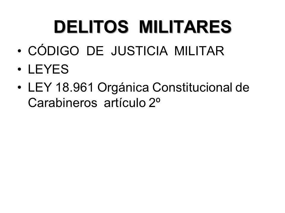 DELITOS MILITARES CÓDIGO DE JUSTICIA MILITAR LEYES